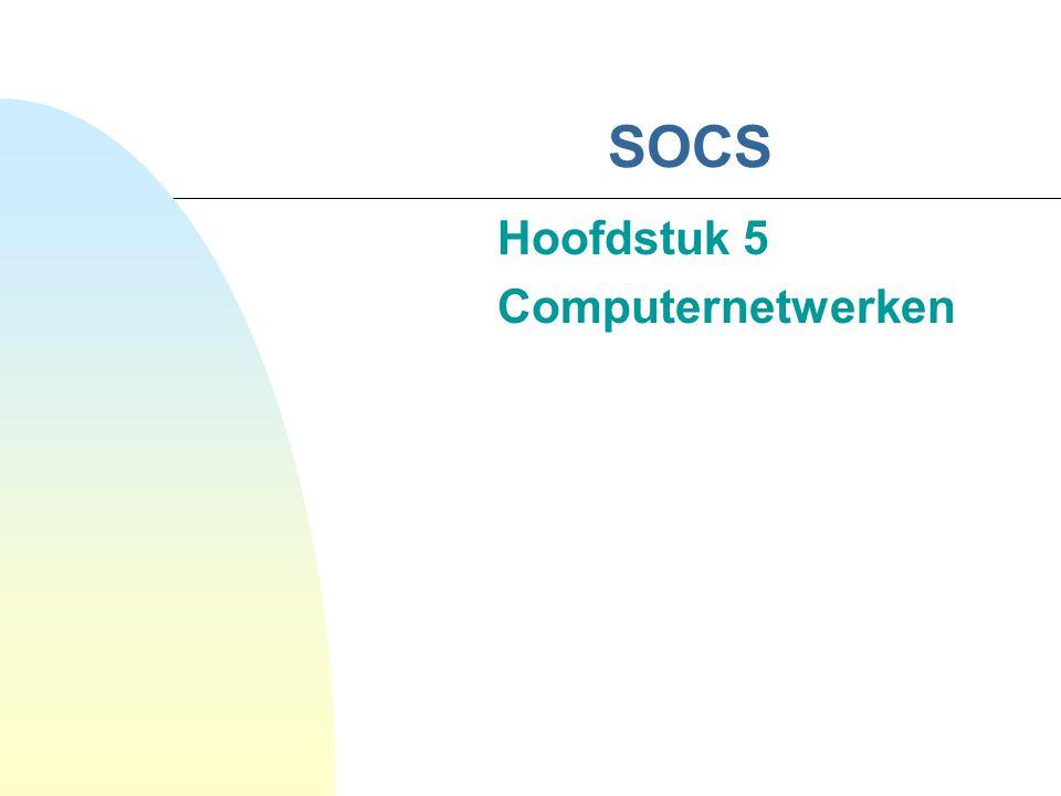 Hoofdstuk 5 Computernetwerken