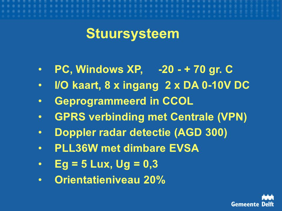 Stuursysteem PC, Windows XP, -20 - + 70 gr. C
