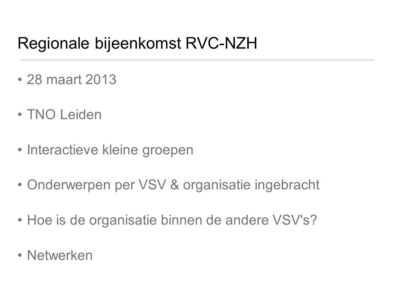Regionale bijeenkomst RVC-NZH
