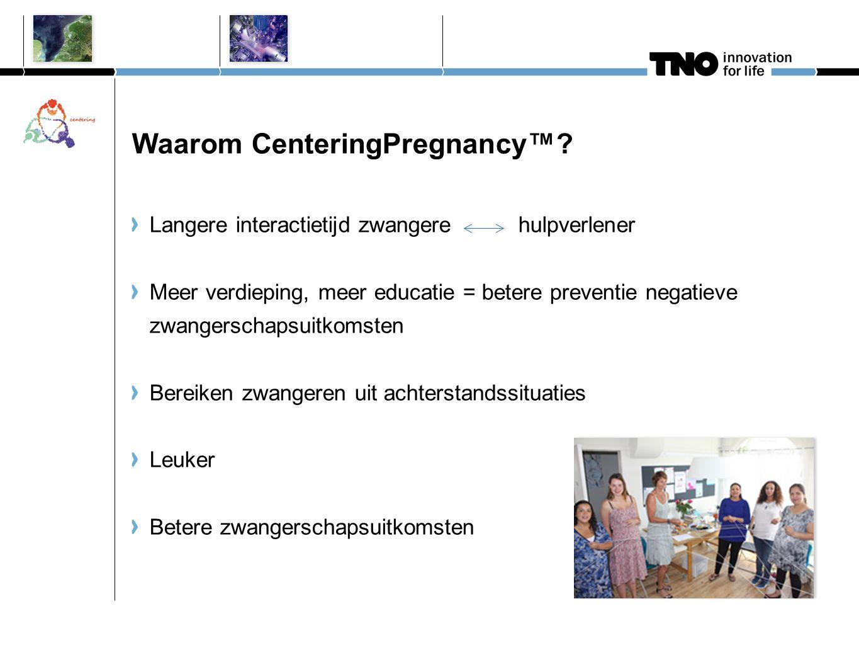 Waarom CenteringPregnancy™
