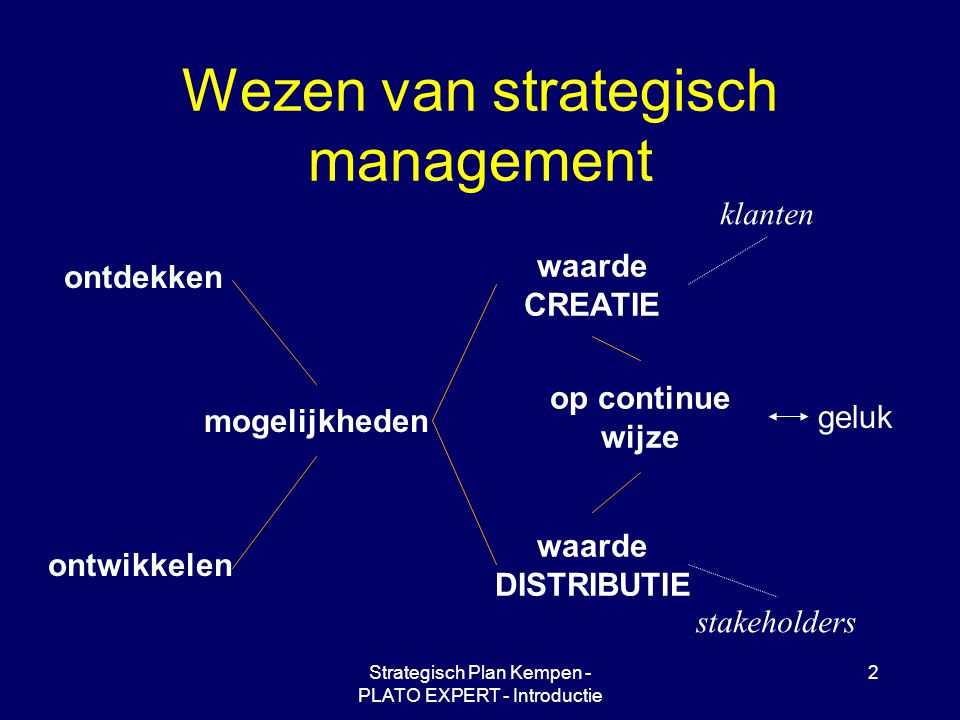 Wezen van strategisch management