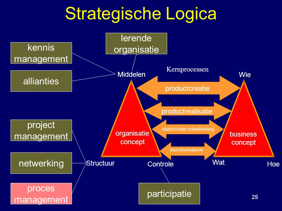 Strategische Logica lerende organisatie kennis management allianties