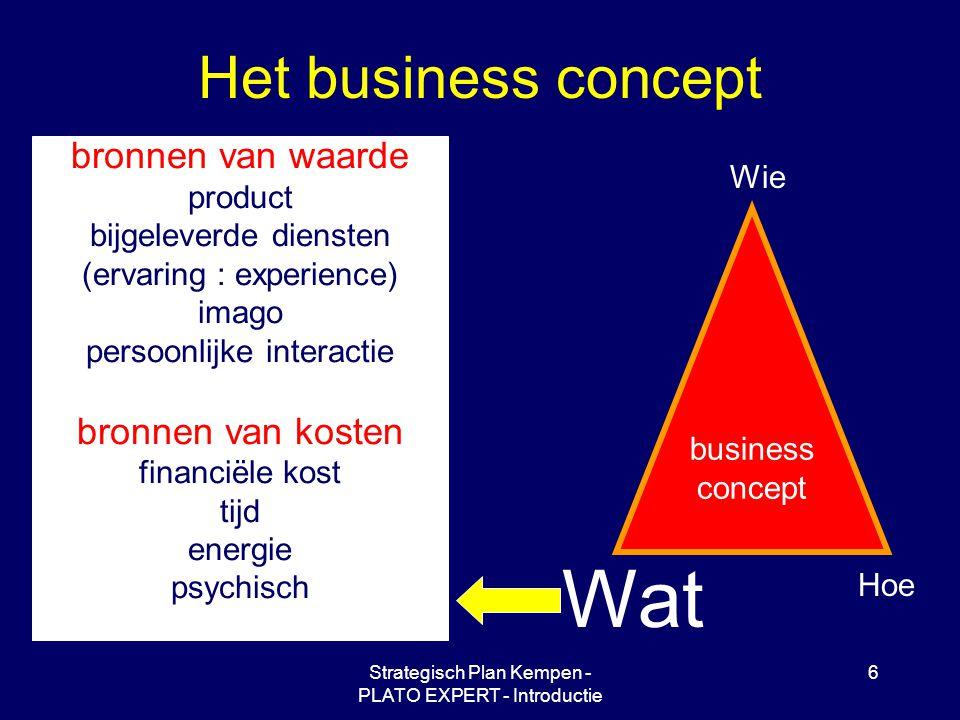 Wat Het business concept bronnen van waarde bronnen van kosten product
