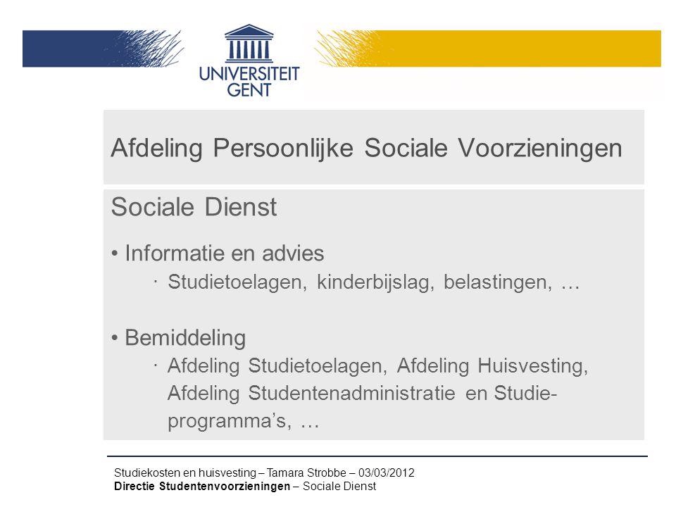 Afdeling Persoonlijke Sociale Voorzieningen