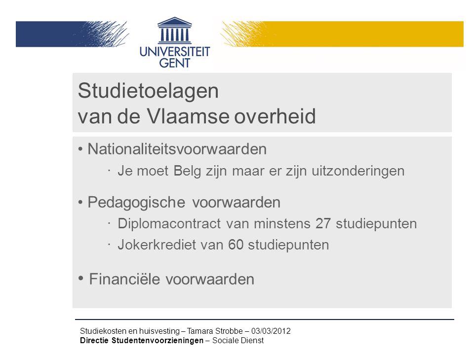 Studietoelagen van de Vlaamse overheid