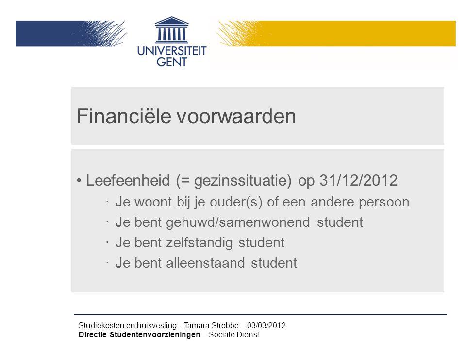 Financiële voorwaarden
