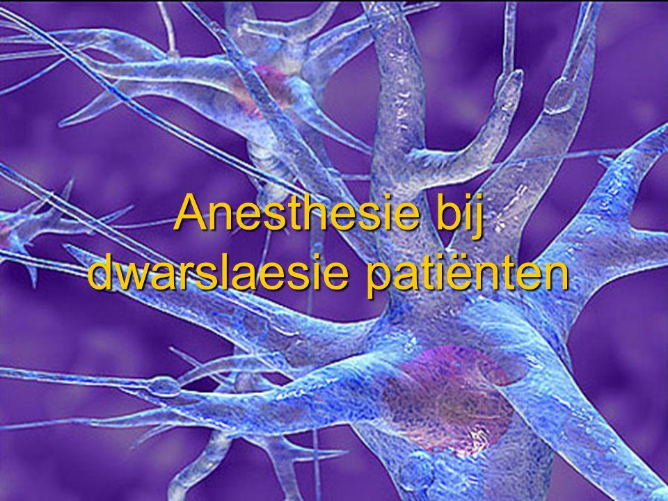 Anesthesie bij dwarslaesie patiënten