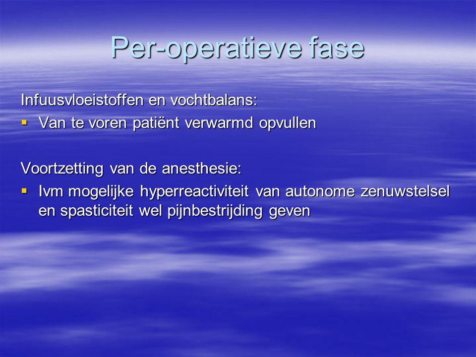 Per-operatieve fase Infuusvloeistoffen en vochtbalans: