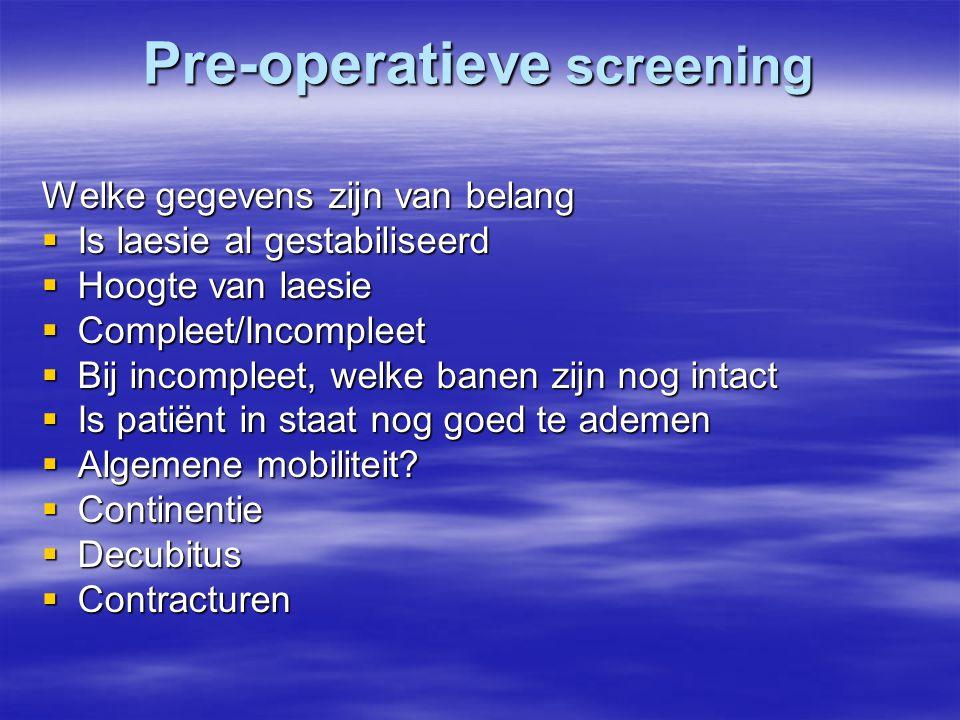Pre-operatieve screening