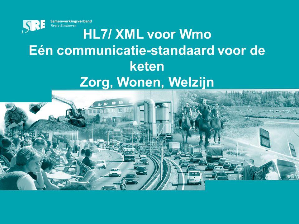 HL7/ XML voor Wmo Eén communicatie-standaard voor de keten Zorg, Wonen, Welzijn