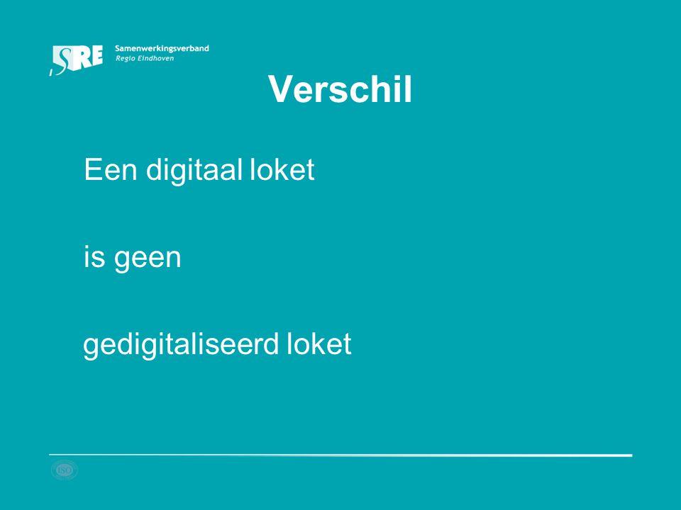 Verschil Een digitaal loket is geen gedigitaliseerd loket