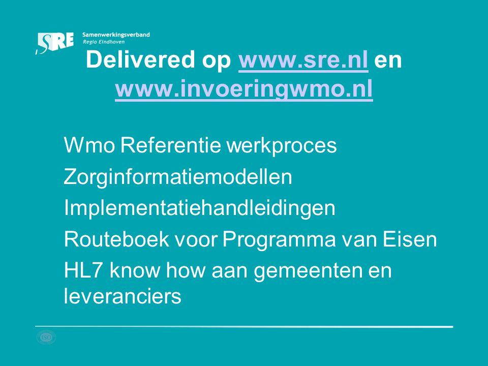 Delivered op www.sre.nl en www.invoeringwmo.nl