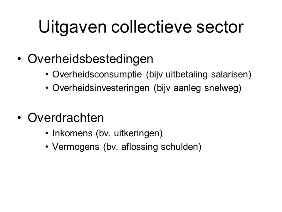 Uitgaven collectieve sector