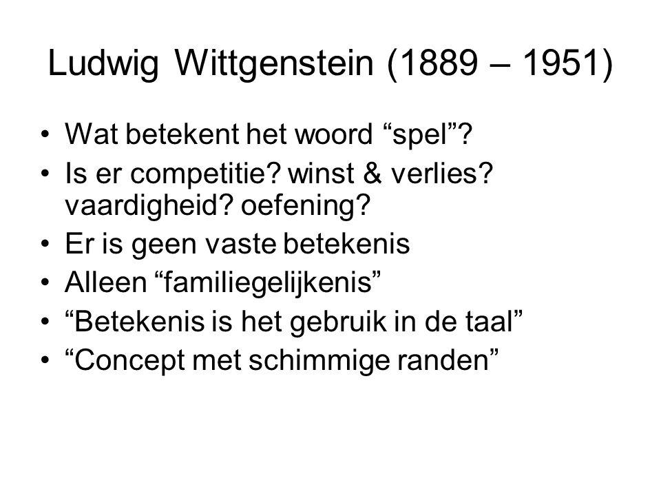 Ludwig Wittgenstein (1889 – 1951)