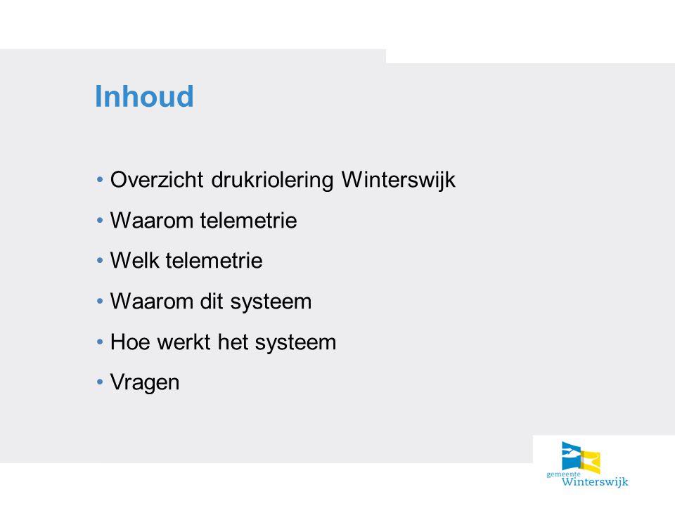 Inhoud Overzicht drukriolering Winterswijk Waarom telemetrie