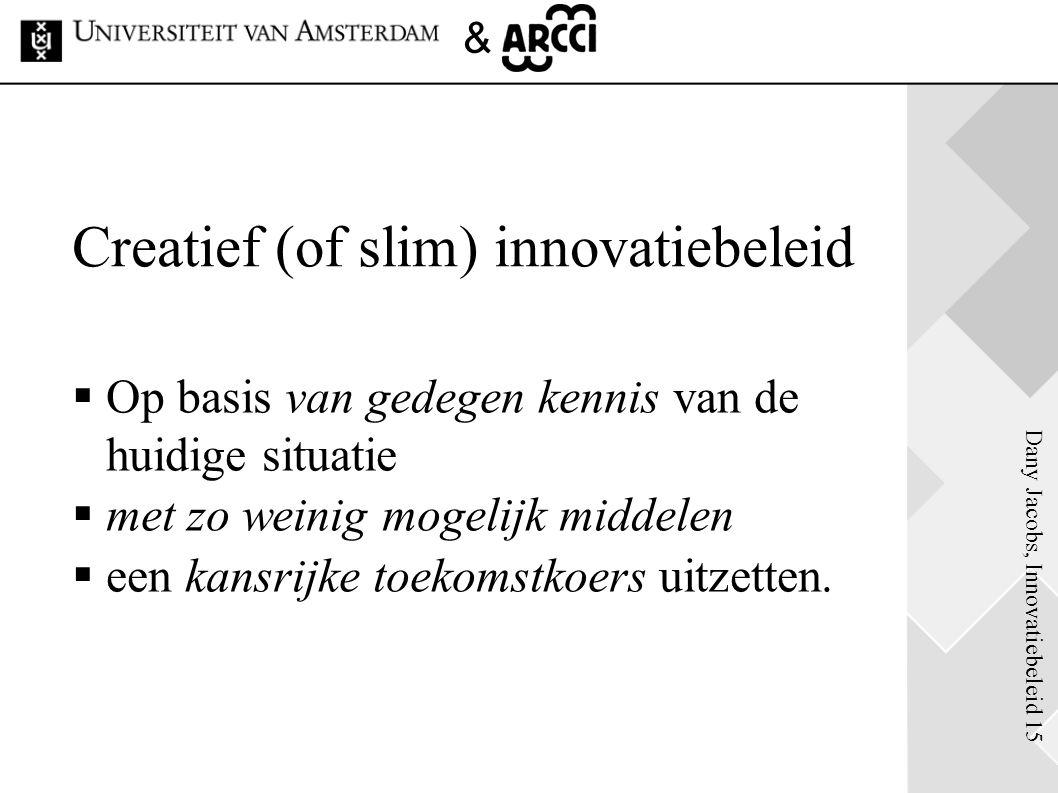 Creatief (of slim) innovatiebeleid