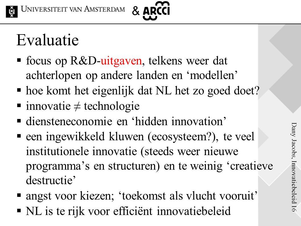 Evaluatie focus op R&D-uitgaven, telkens weer dat achterlopen op andere landen en 'modellen' hoe komt het eigenlijk dat NL het zo goed doet