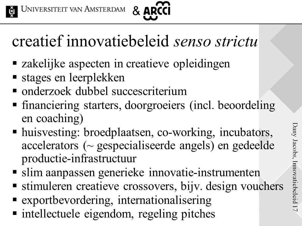 creatief innovatiebeleid senso strictu