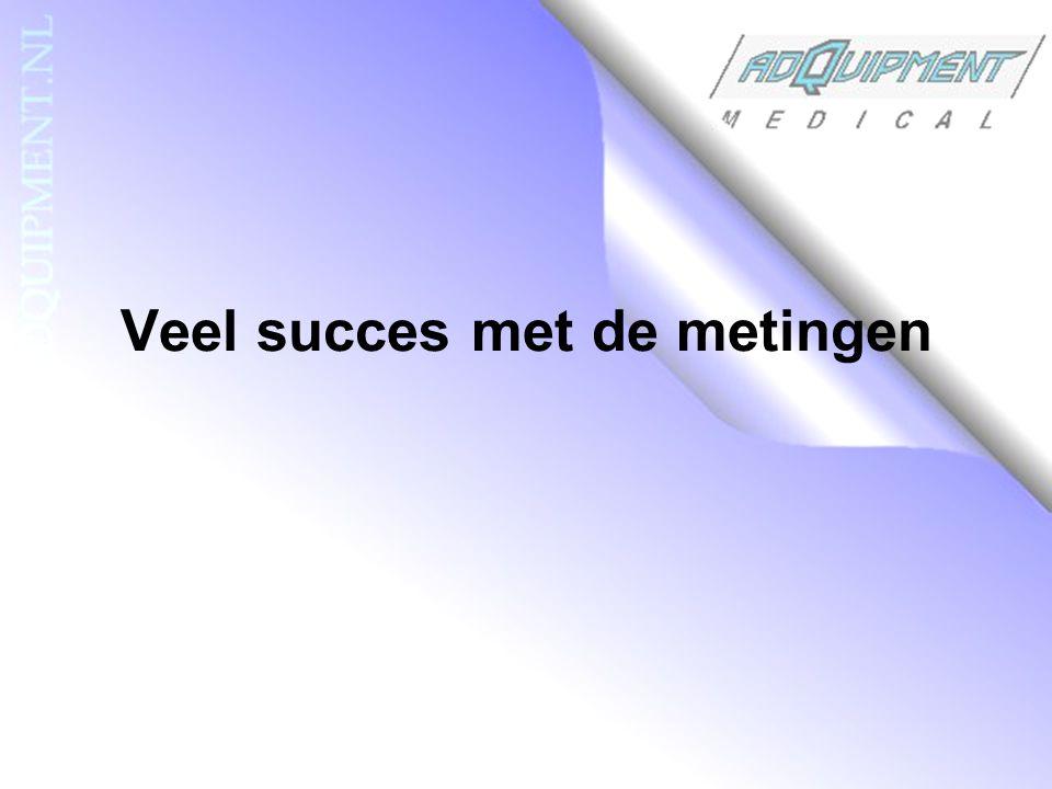 Veel succes met de metingen