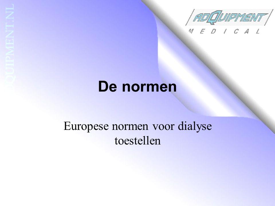 Europese normen voor dialyse toestellen
