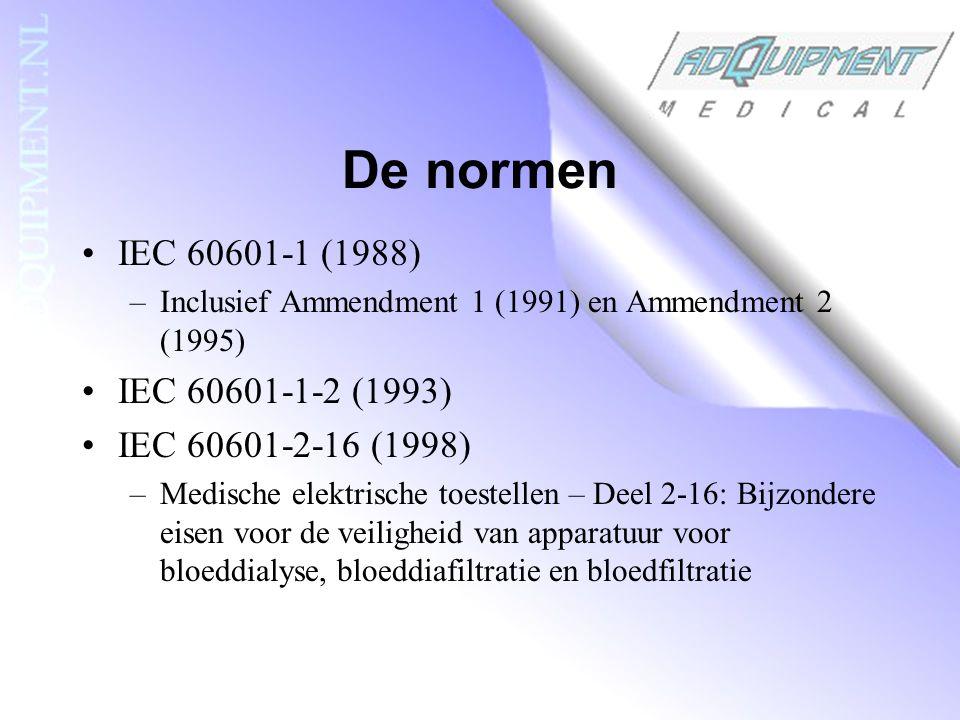 De normen IEC 60601-1 (1988) IEC 60601-1-2 (1993)
