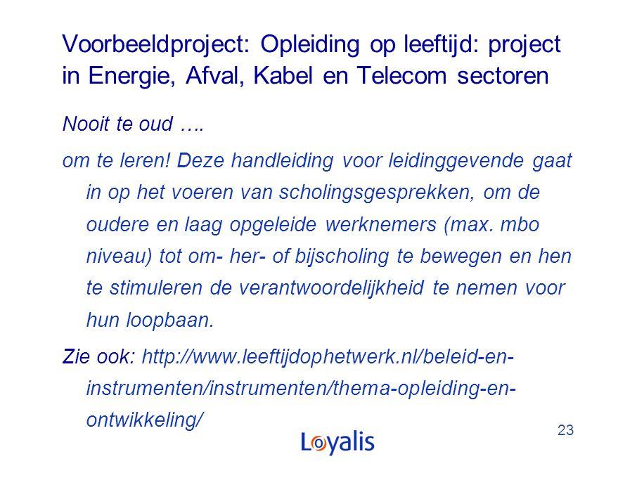 Voorbeeldproject: Opleiding op leeftijd: project in Energie, Afval, Kabel en Telecom sectoren
