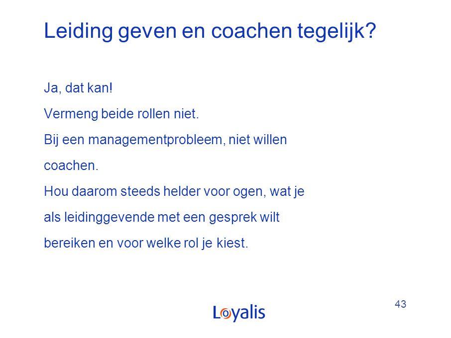 Leiding geven en coachen tegelijk