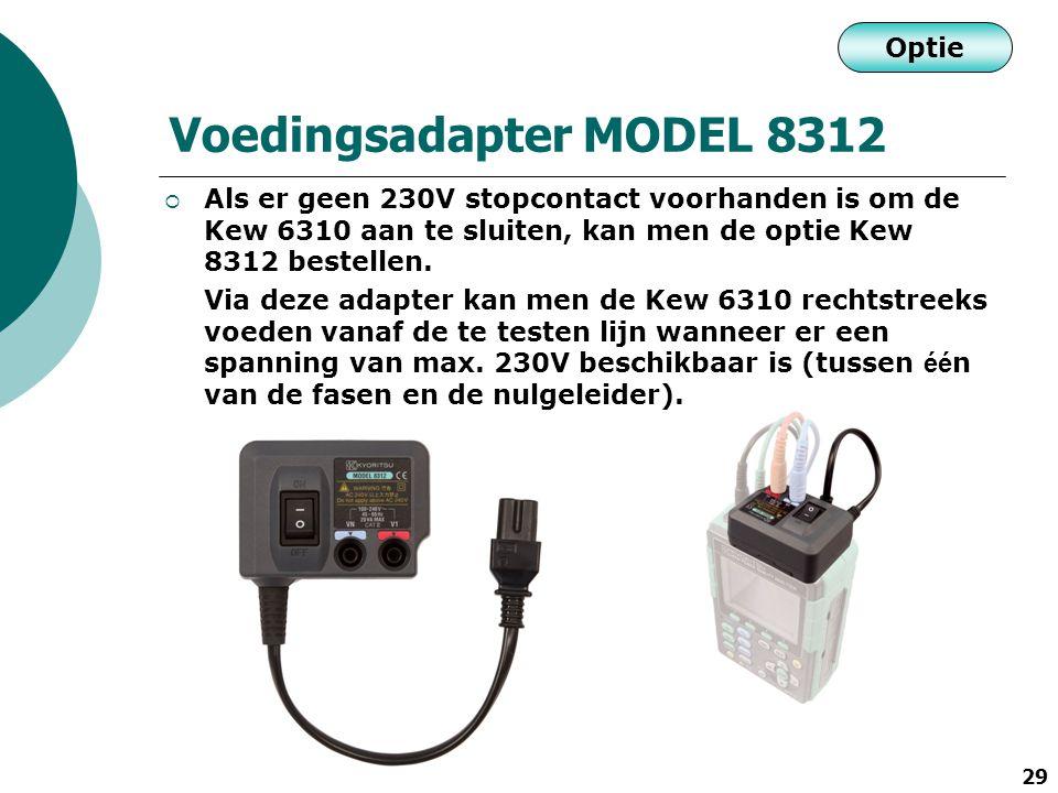 Voedingsadapter MODEL 8312