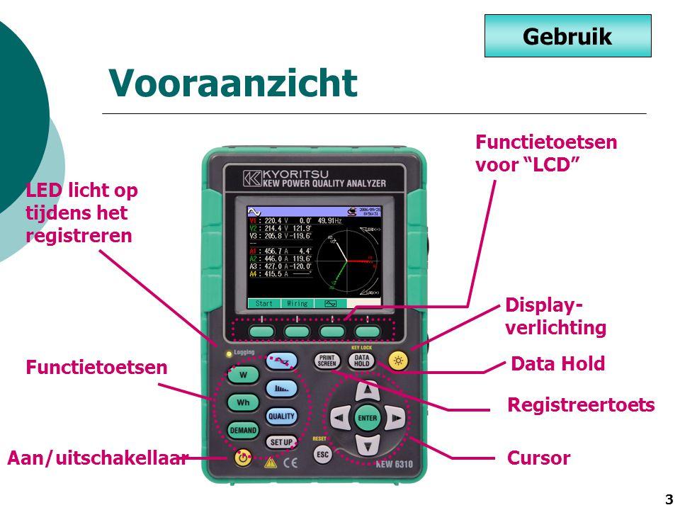 Vooraanzicht Gebruik Functietoetsen voor LCD