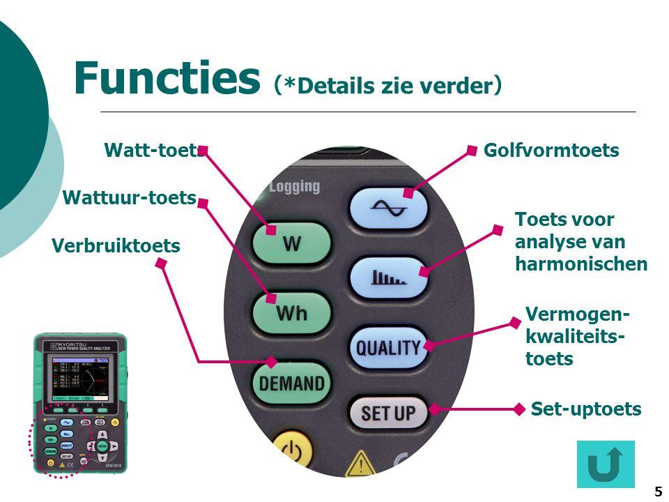 Functies(*Details zie verder)