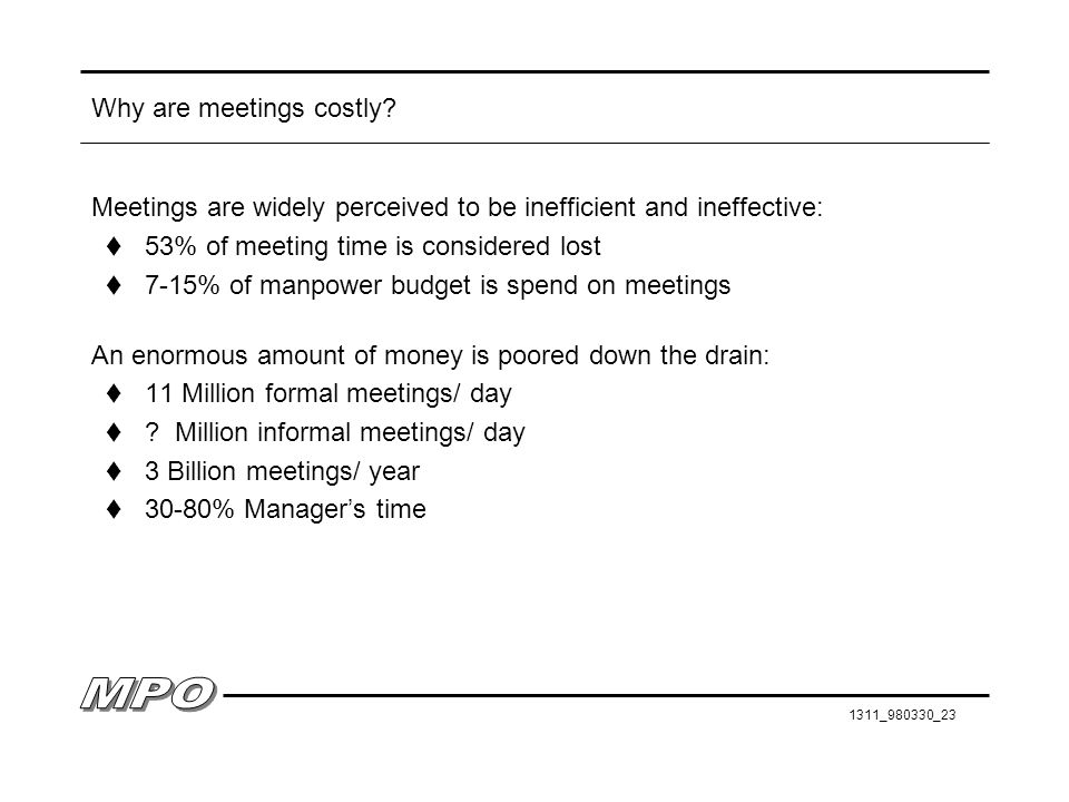 Why are meetings costly