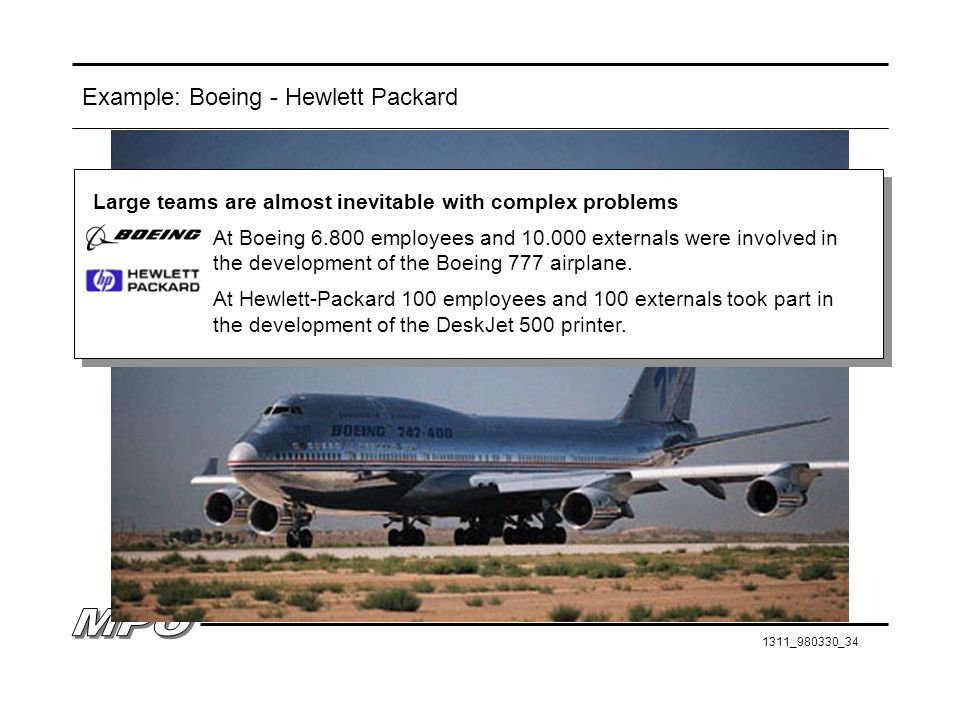 Example: Boeing - Hewlett Packard
