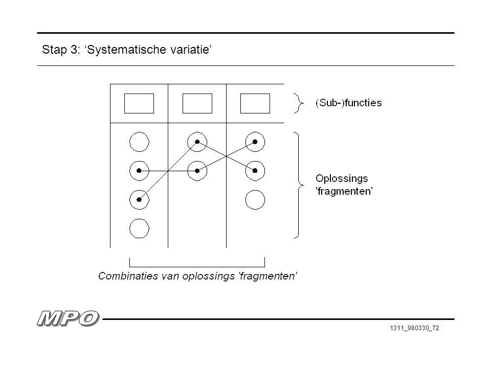 Stap 3: 'Systematische variatie'