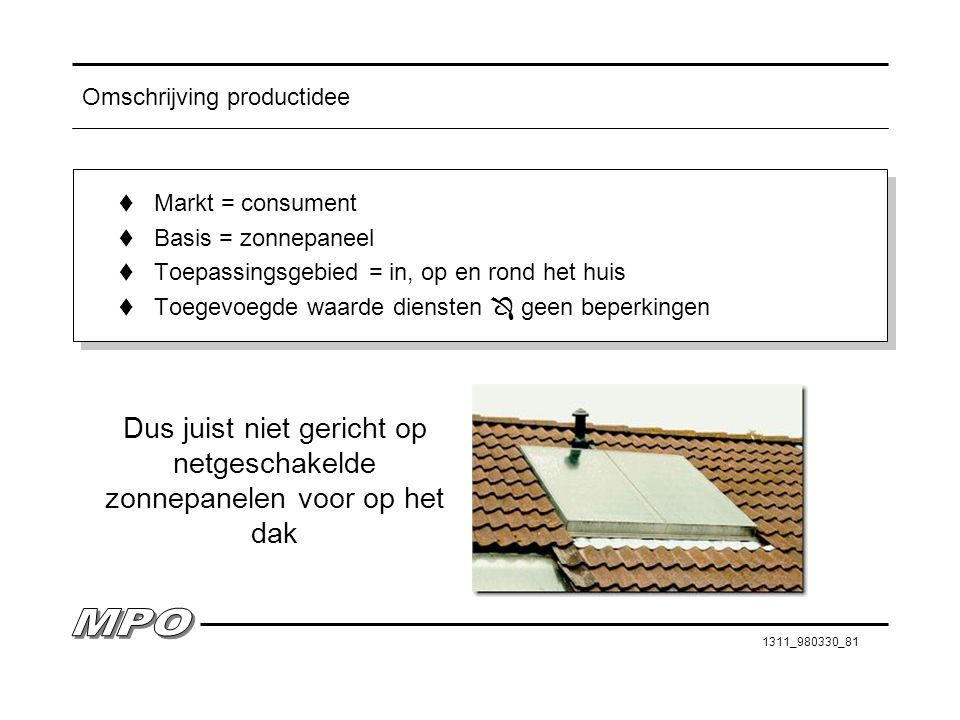 Omschrijving productidee