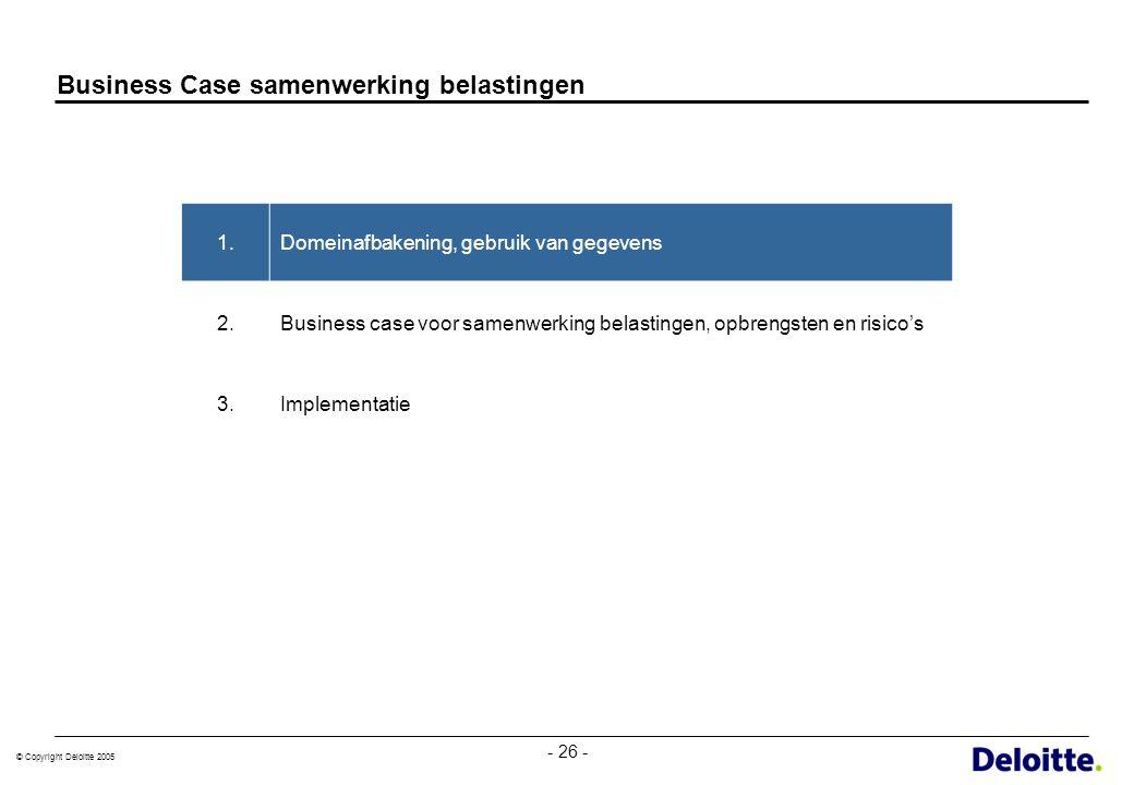 Business Case samenwerking belastingen