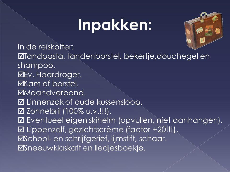 Inpakken: In de reiskoffer: