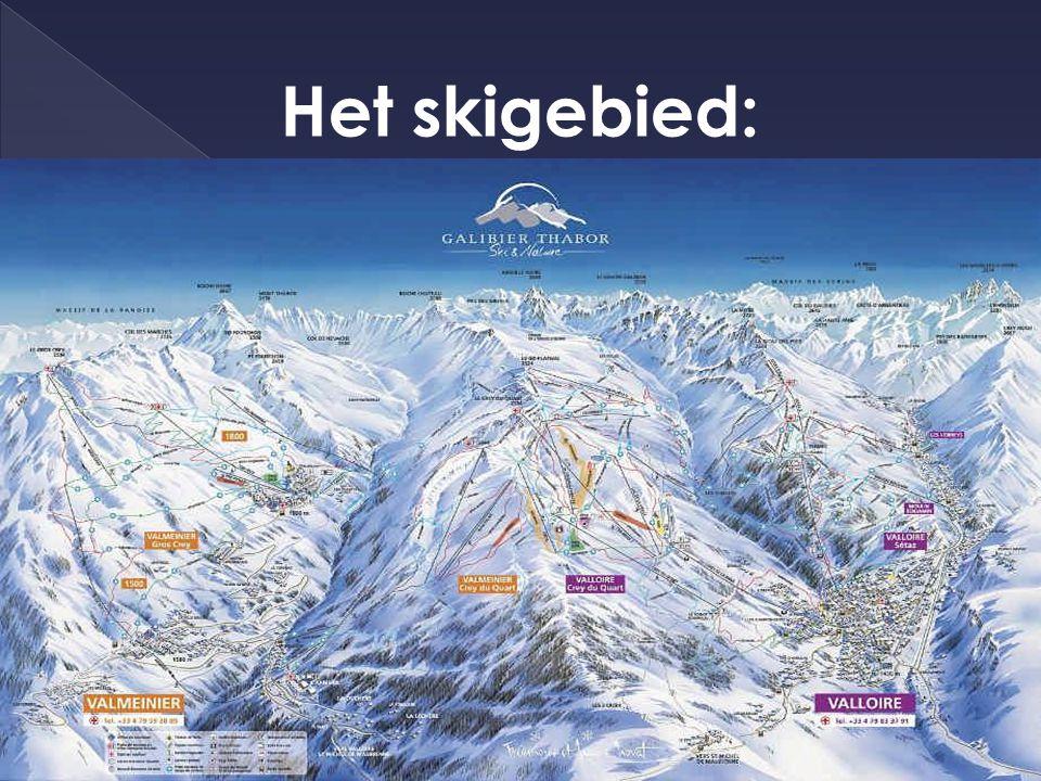 Het skigebied: