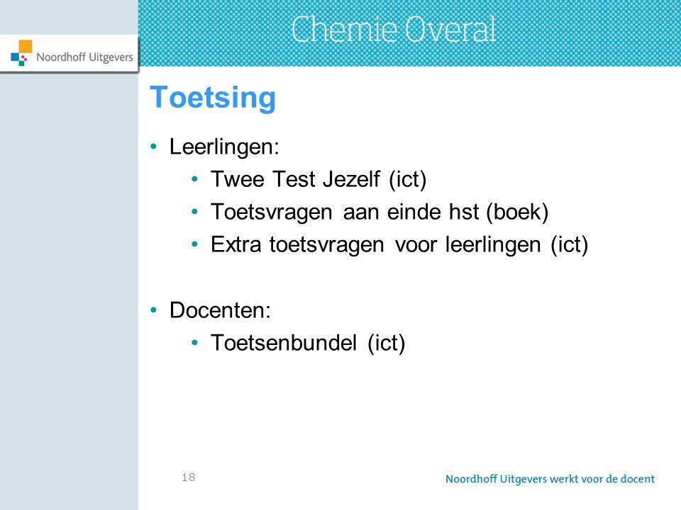 Toetsing Leerlingen: Twee Test Jezelf (ict)