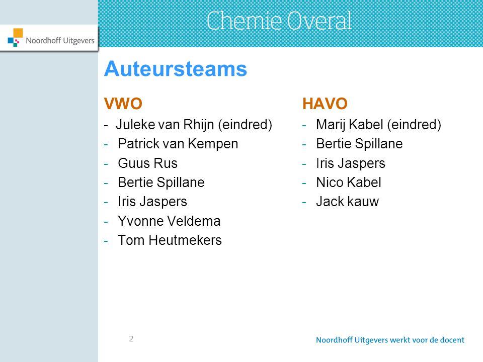 Auteursteams VWO HAVO - Juleke van Rhijn (eindred) Patrick van Kempen