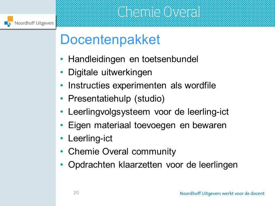 Docentenpakket Handleidingen en toetsenbundel Digitale uitwerkingen