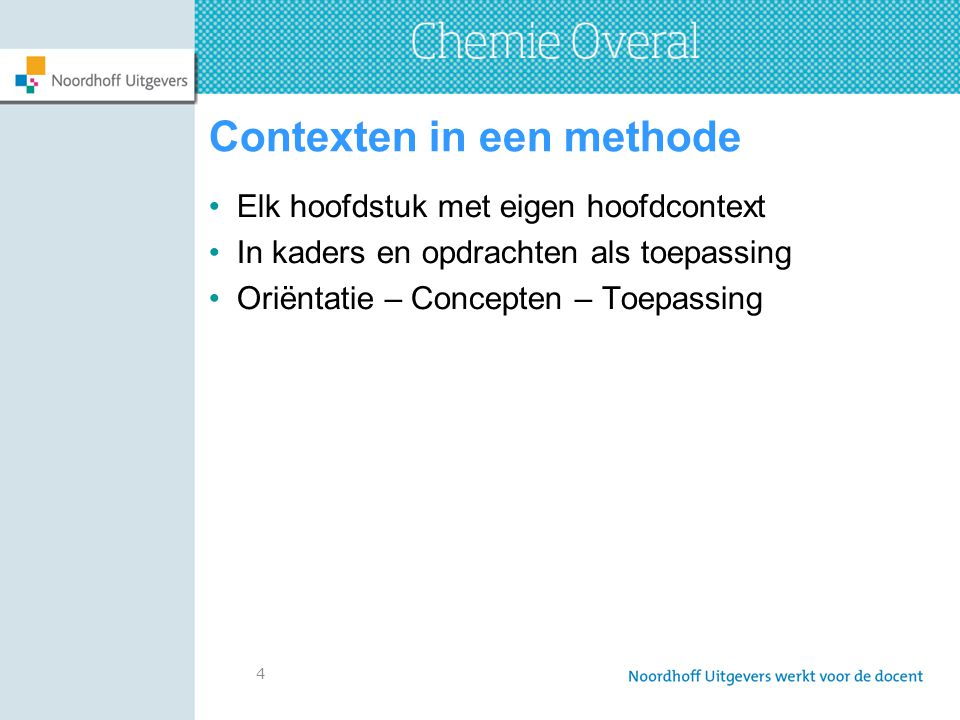 Contexten in een methode