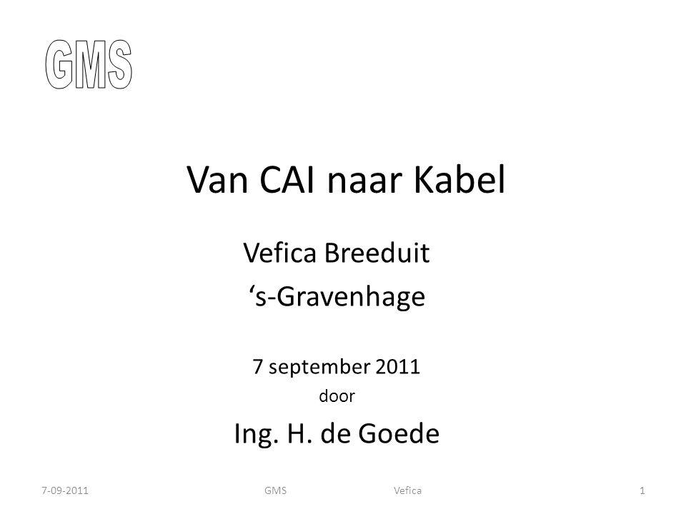 Van CAI naar Kabel GMS Vefica Breeduit 's-Gravenhage Ing. H. de Goede
