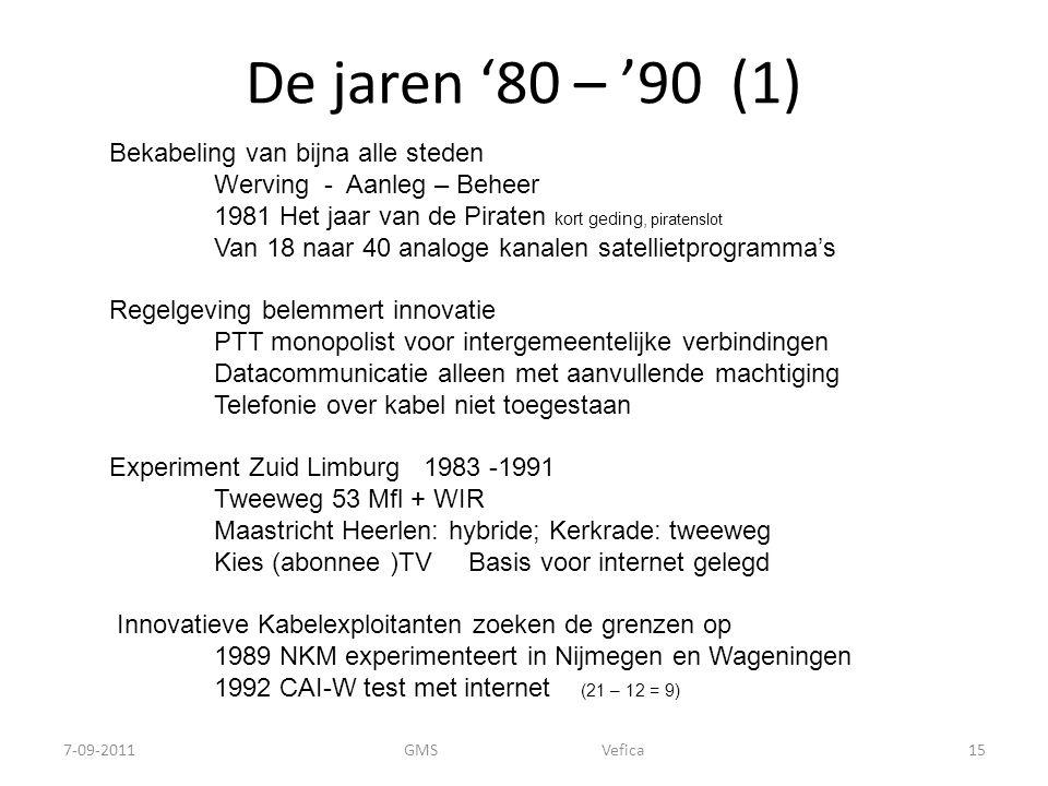 De jaren '80 – '90 (1)