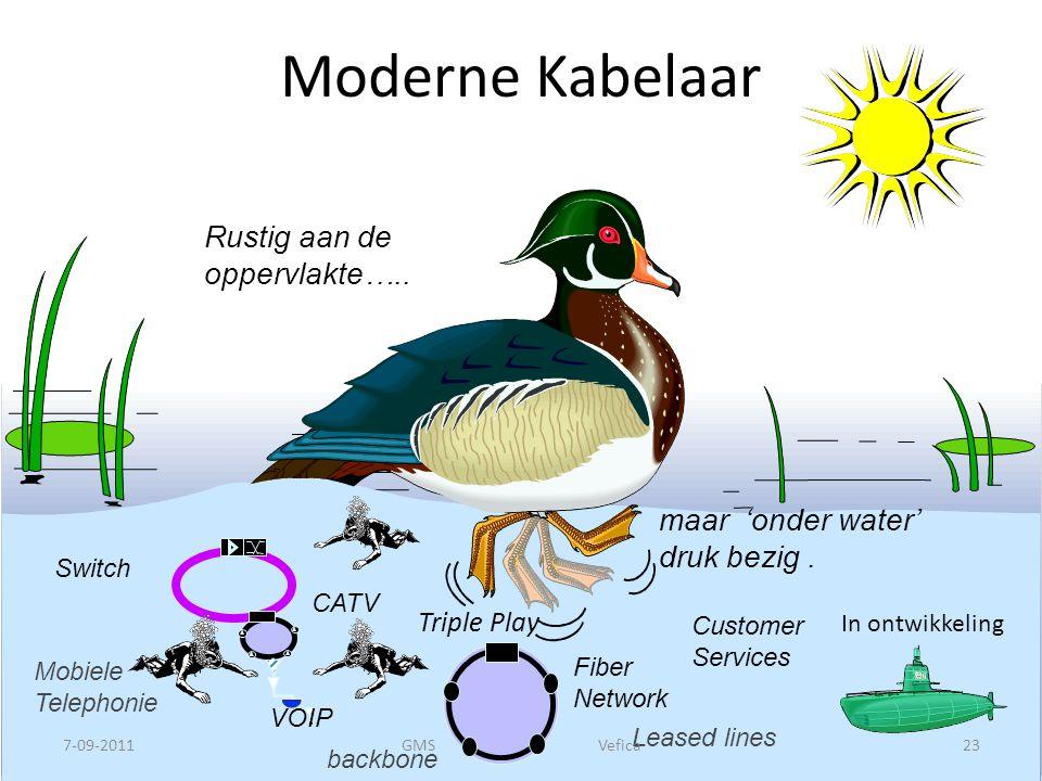 Moderne Kabelaar Rustig aan de oppervlakte….. maar 'onder water'