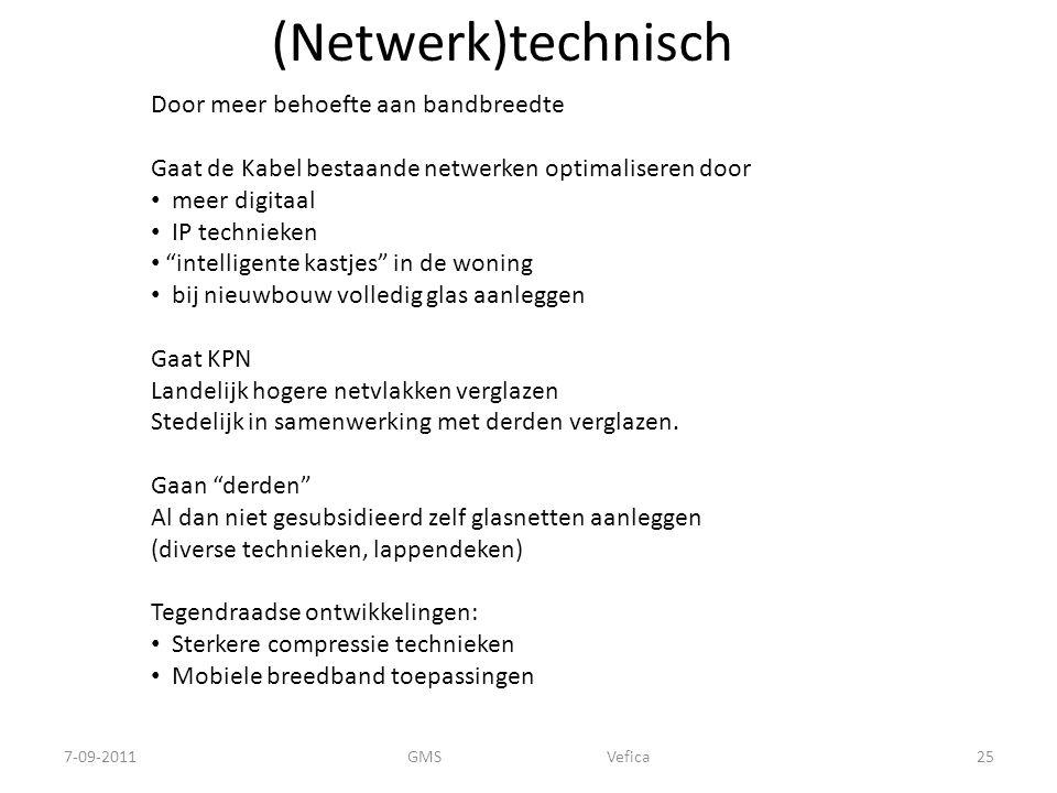 (Netwerk)technisch Door meer behoefte aan bandbreedte