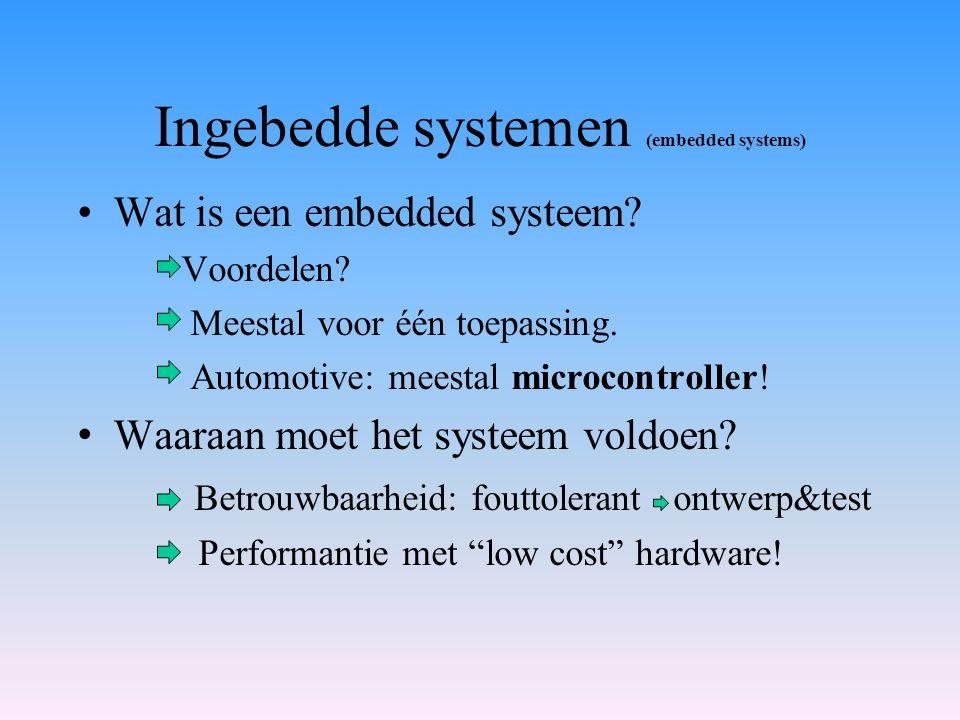 Ingebedde systemen (embedded systems)