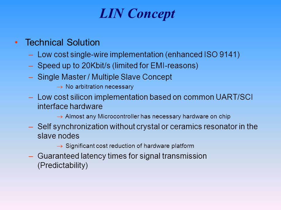 LIN Concept Technical Solution