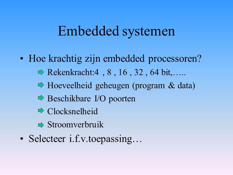 Embedded systemen Hoe krachtig zijn embedded processoren