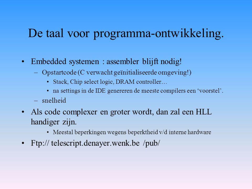 De taal voor programma-ontwikkeling.