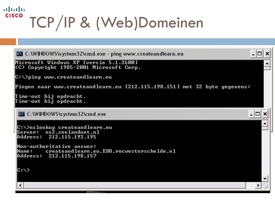 TCP/IP & (Web)Domeinen
